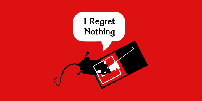 Graphic for regret
