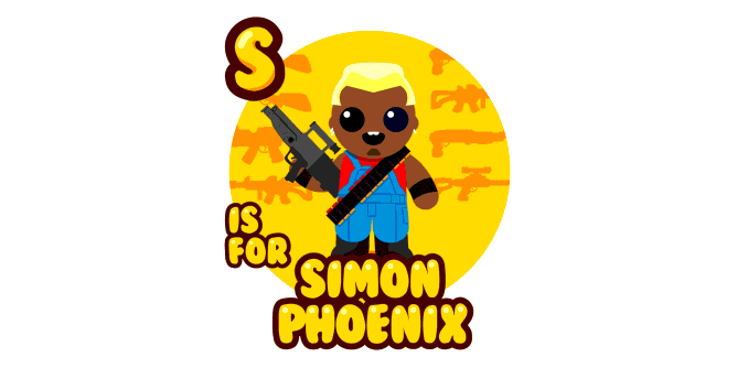 Graphic for s-is-for-simon-phoenix