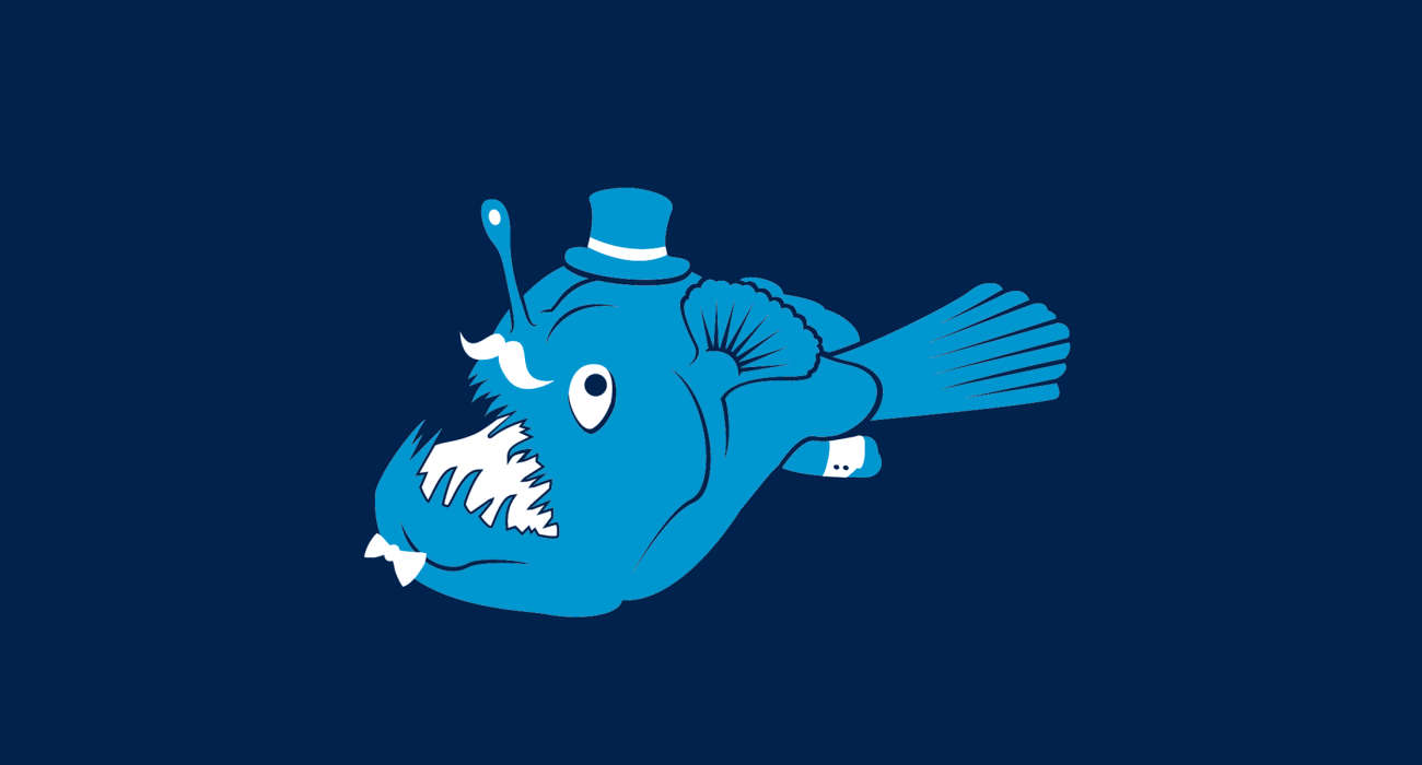 A fancy pants anglerfish, dressed to the nines and ready for a night out on the town
