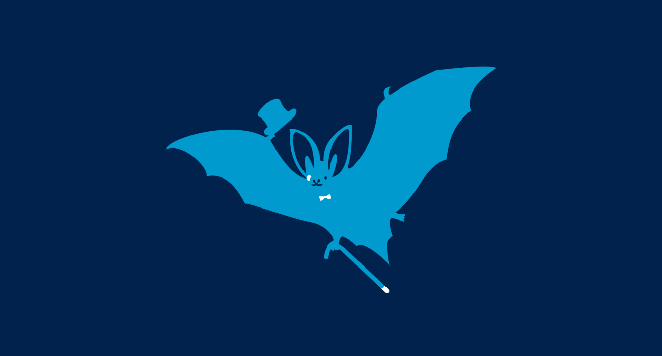 A fancy pants bat, dressed to the nines and ready for a night out on the town