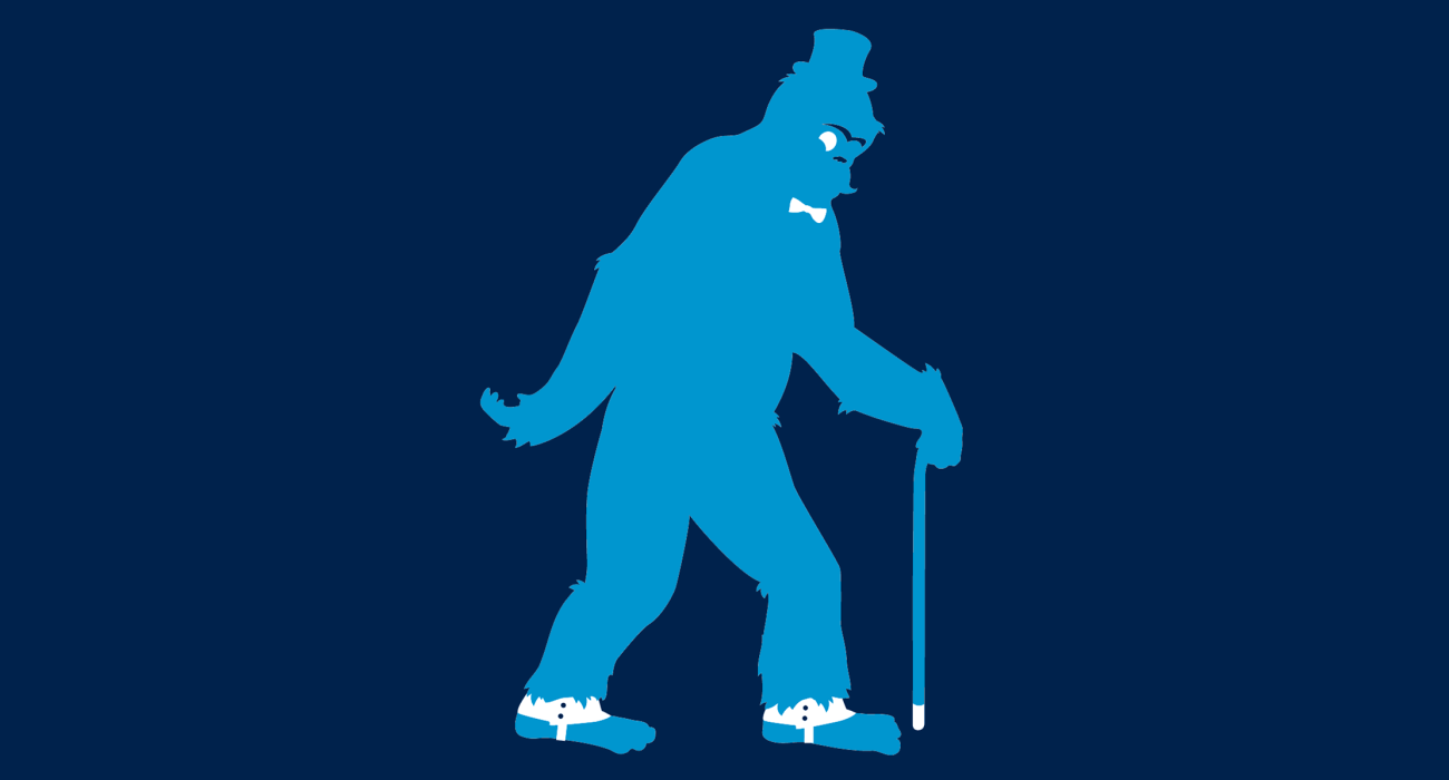 A fancy pants bigfoot, dressed to the nines and ready for a night out on the town