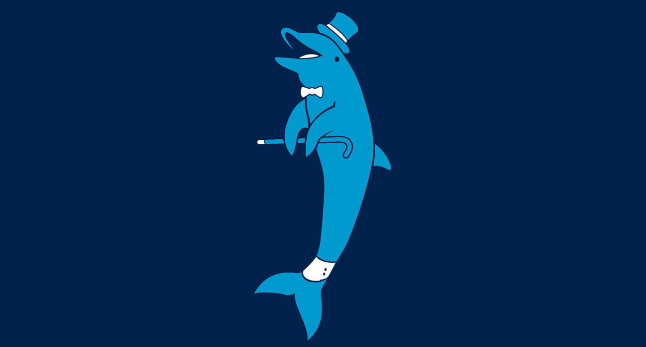 A fancy pants dolphin, dressed to the nines and ready for a night out on the town