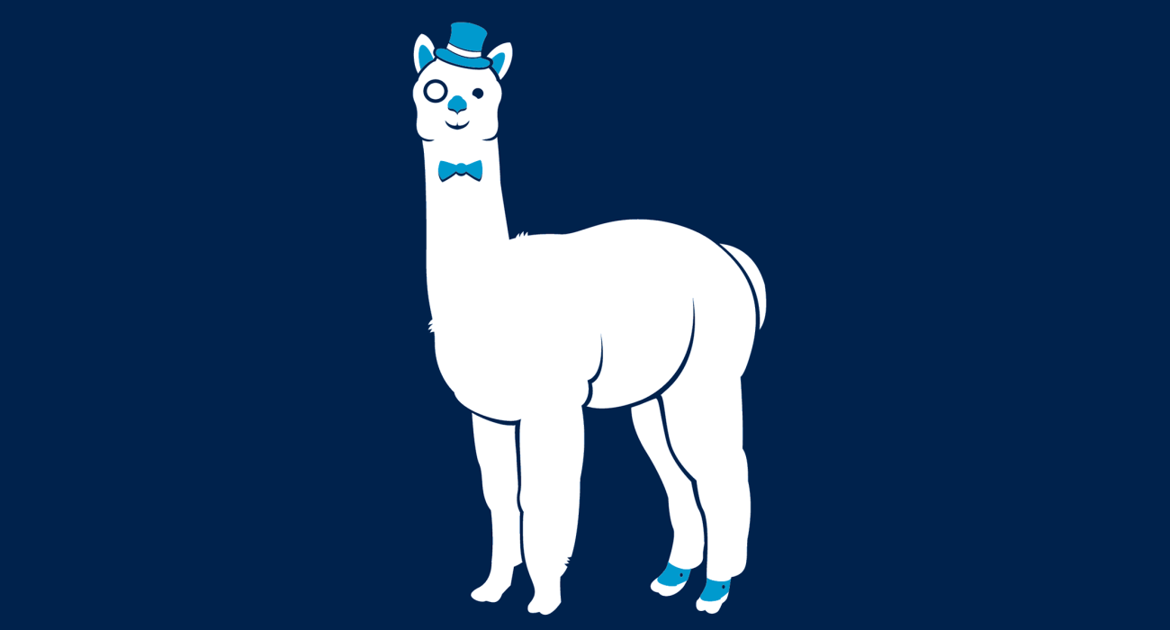 A fancy pants llama, dressed to the nines and ready for a night out on the town