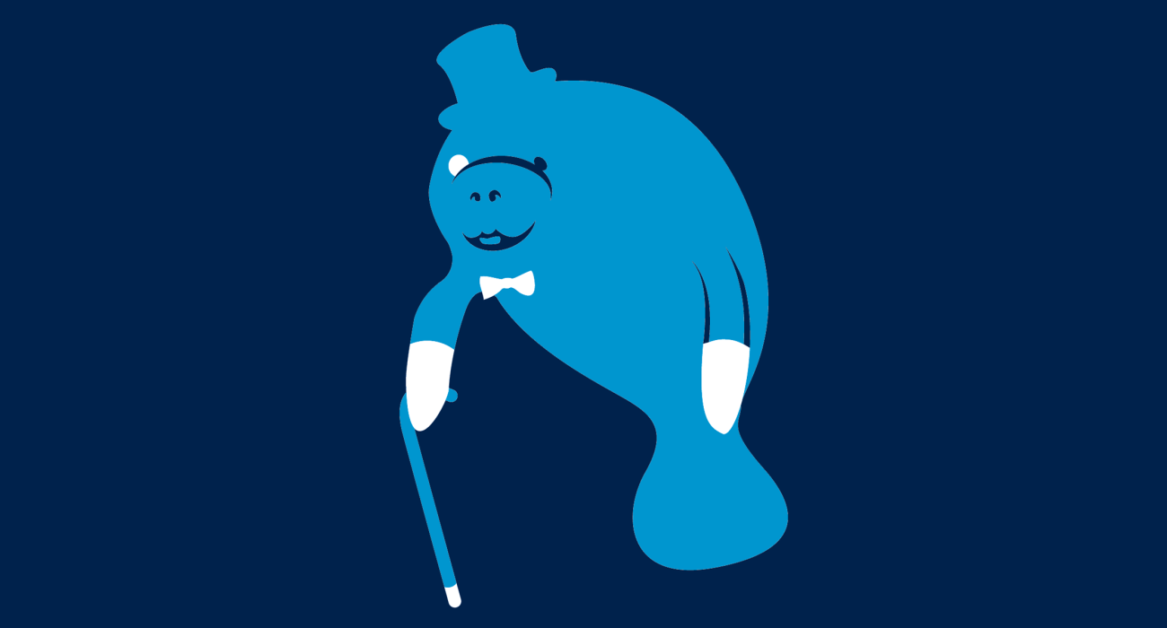 A fancy pants manatee, dressed to the nines and ready for a night out on the town