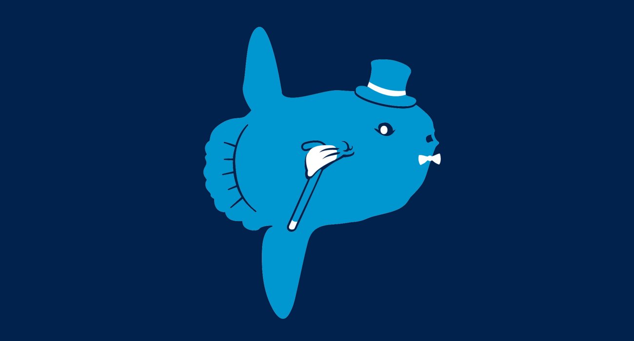 A fancy pants molamola, dressed to the nines and ready for a night out on the town