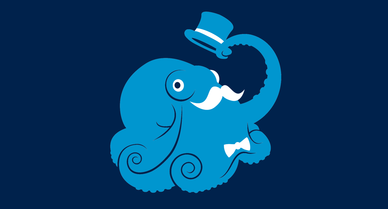 A fancy pants octopus, dressed to the nines and ready for a night out on the town