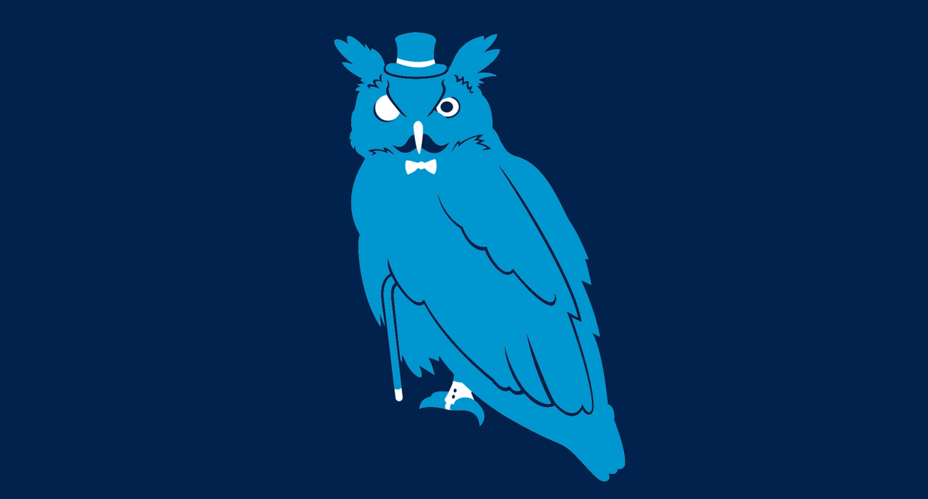 A fancy pants owl, dressed to the nines and ready for a night out on the town