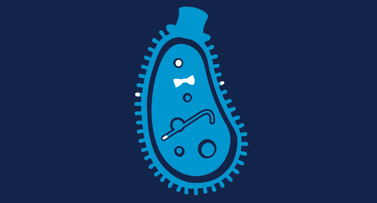 A fancy pants paramecium, dressed to the nines and ready for a night out on the town