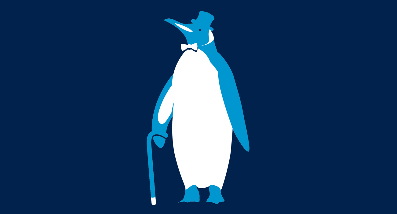 A fancy pants penguin, dressed to the nines and ready for a night out on the town