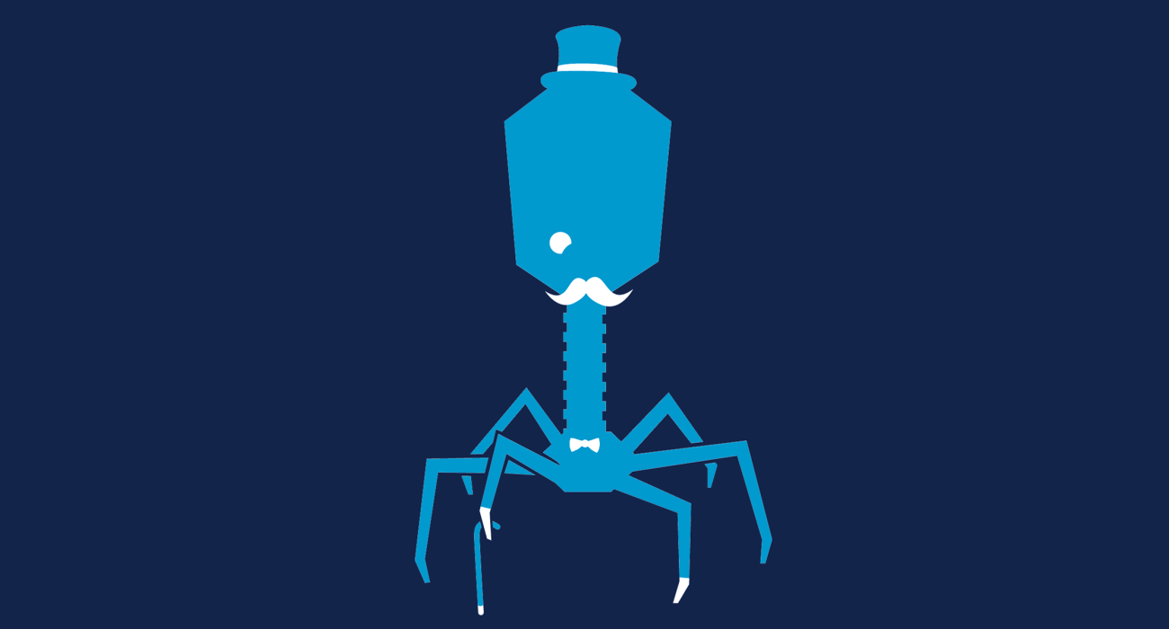 A fancy pants phage, dressed to the nines and ready for a night out on the town