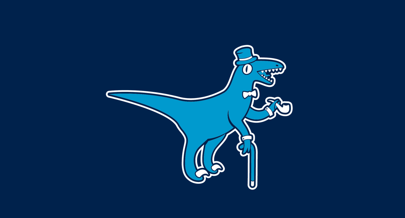 A fancy pants T-Rex wearing a top hat and dressed to the nines, then slathered on a t-shirt
