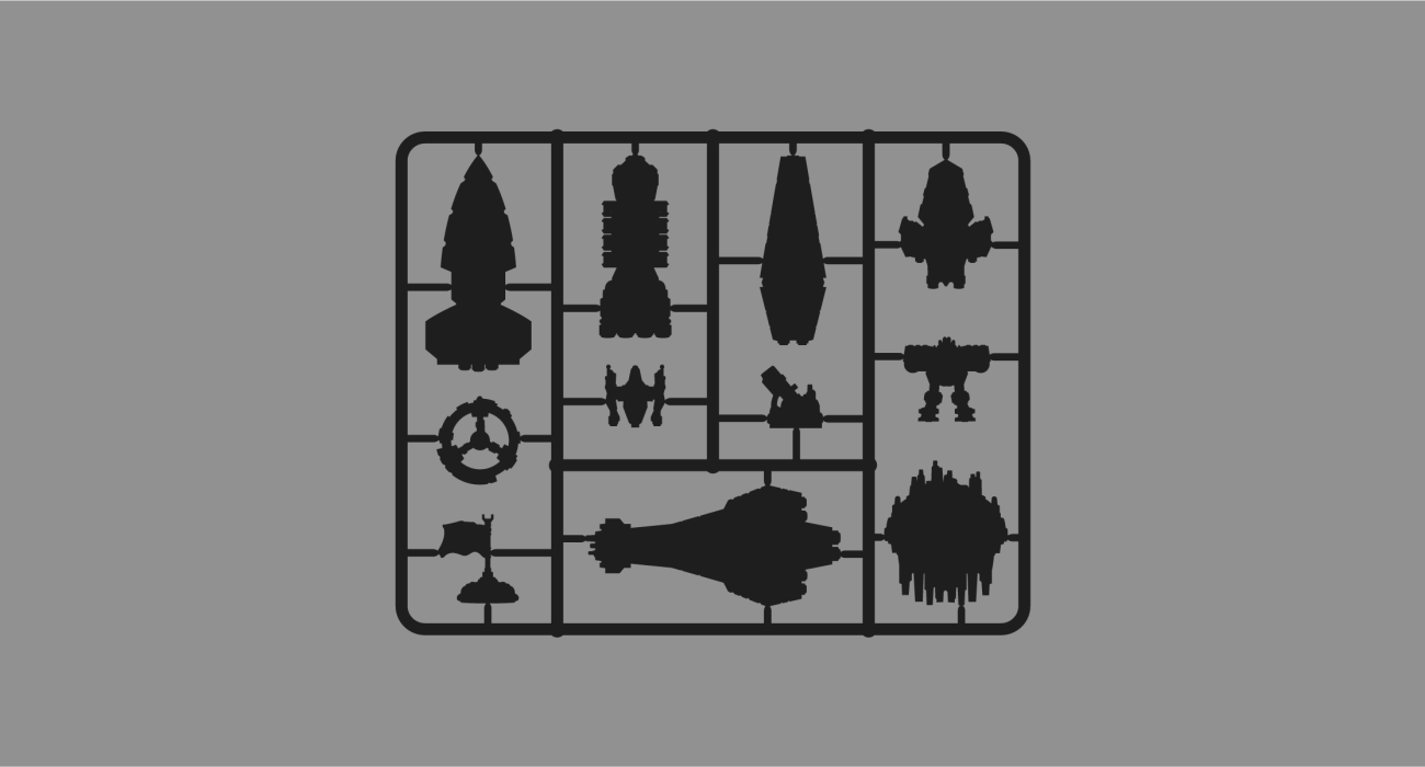 All of the delicious plastic bits from the epic board game Twilight Imperium 4