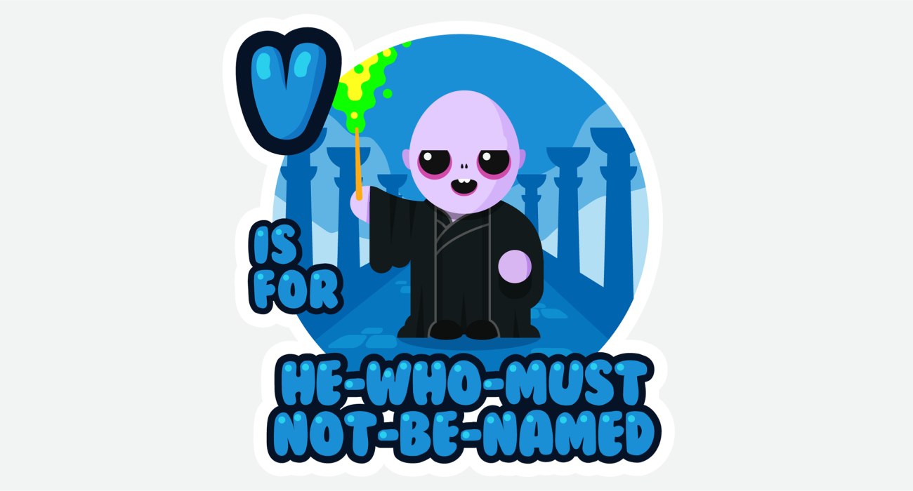 Just the cutest lil' Dark Lord Volemort doing his bestest to exterminate those silly-billy muggles!